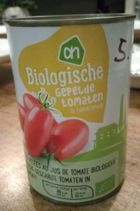 Test gepelde tomaten in blik - Blikje AH Bio gepelde tomaten