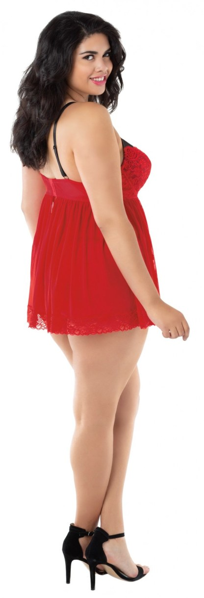 Ruby Babydoll with Lace Trim