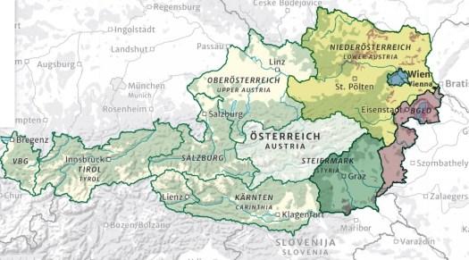 Oostenrijk wijnregio's