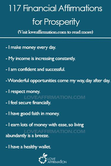 financial-affirmation-list