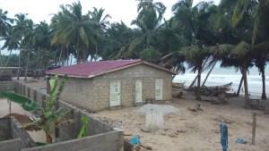 Public washroom build in Lower Saltpond, Ghana