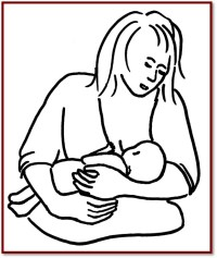 Breastfeeding positions - madonna cradle