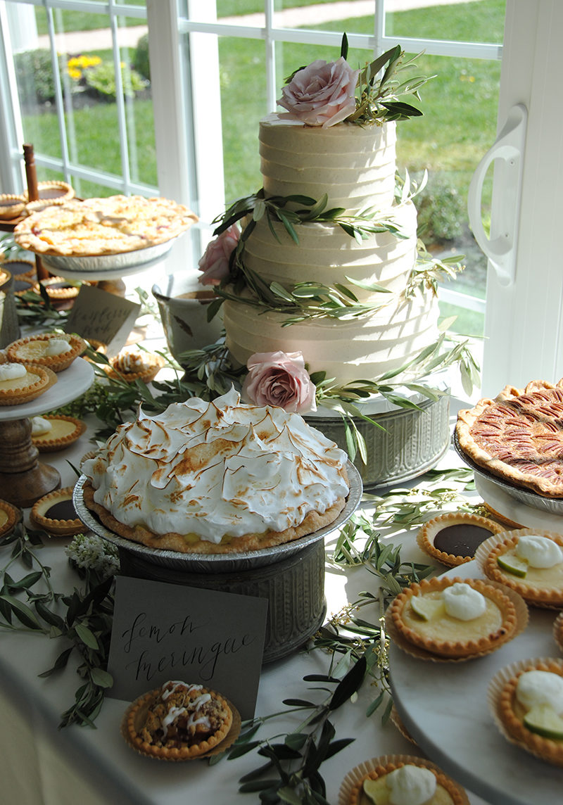 Wedding Cake and Pie Bar