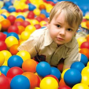 Jumpy thing full of balls...with kid. (image courtesy of Wal-mart)