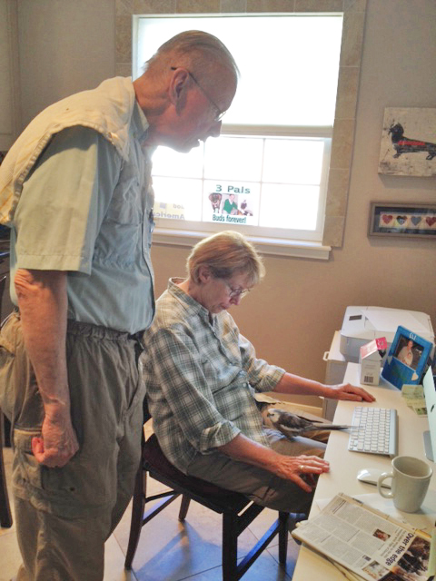 I can tell Grandma and Grandpa are getting ready to research something. I'll bet they need my help.
