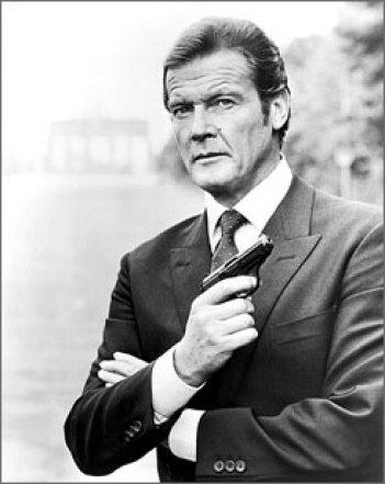 Roger Moore, again featuring classic coloration and a coolly confident stare.