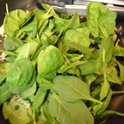 Add baby spinach.