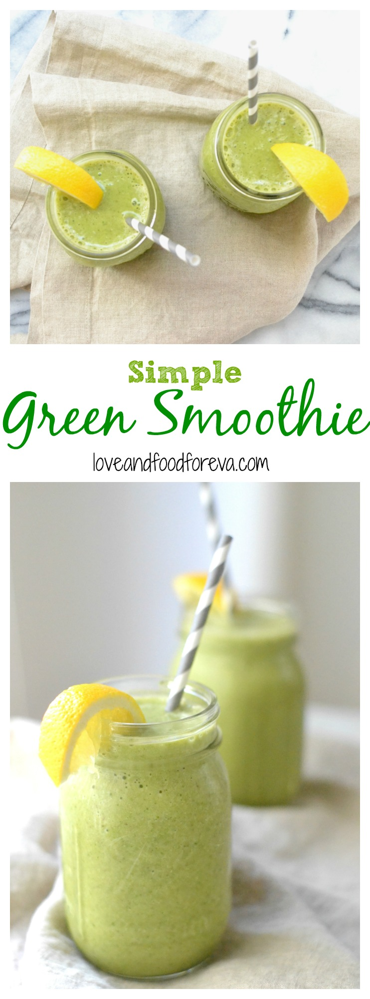 Simple Green Smoothie - so easy to customize it to your liking!
