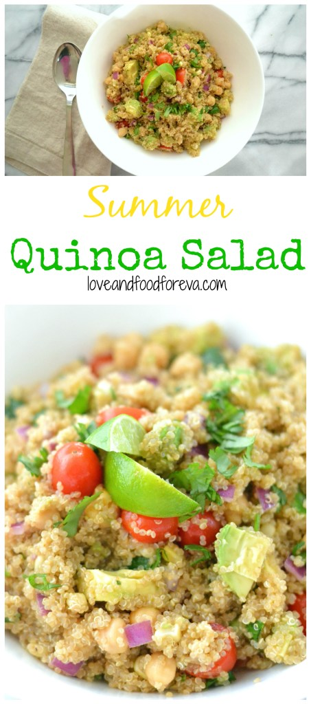 Summer Quinoa salad is fast, easy, and utterly refreshing!