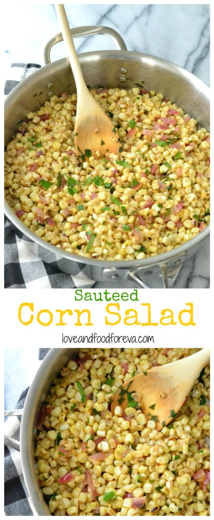 This Sauteed Corn Salad is the perfect side dish for your summer brunch or BBQ! Easy, simple, fast, and so delicious!