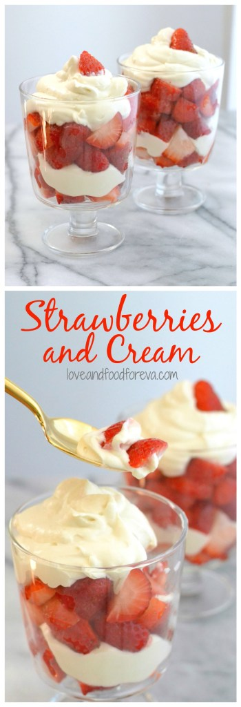 Try this fast, simple, and scrumptious Strawberries and Cream recipe today - you only need 7 ingredients and 20 minutes!