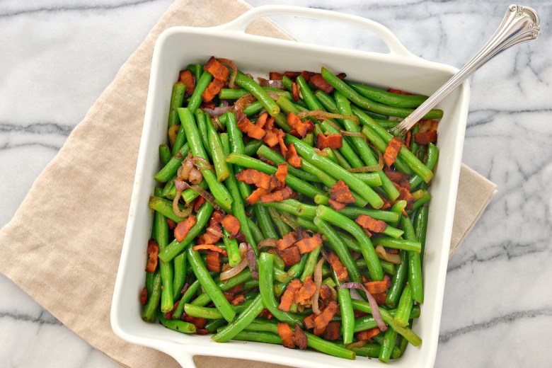 green_beans_bacon_shallots_love_and_food_foreva