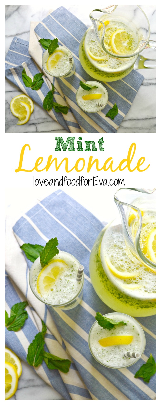 Hot temperatures? This incredibly refreshing Mint Lemonade is exactly what you need to quench your thirst!