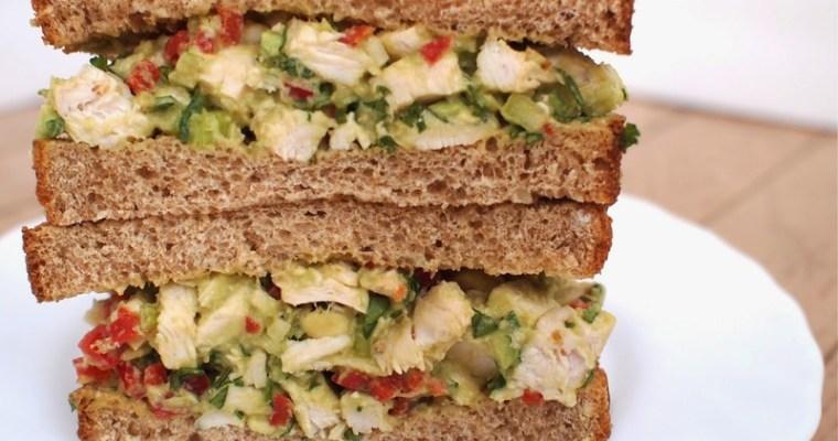 Love and Avocado Caesar Chicken Salad