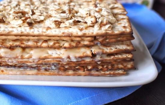 Love and Layered Matzah Cake