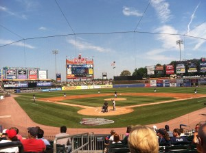 At a Lehigh Valley Iron Pigs game (the Triple-A Affiliate of the Philadelphia Phillies)
