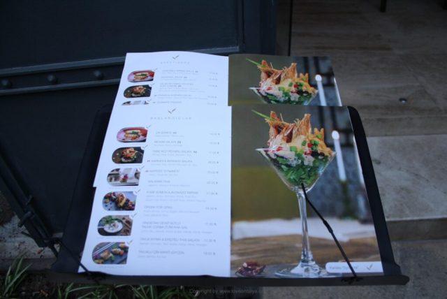menu Vanilla Lounge
