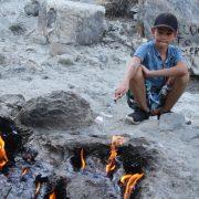 flaming mountain