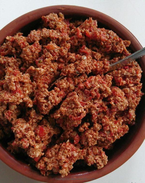 cevizli biber - turkish walnut dip