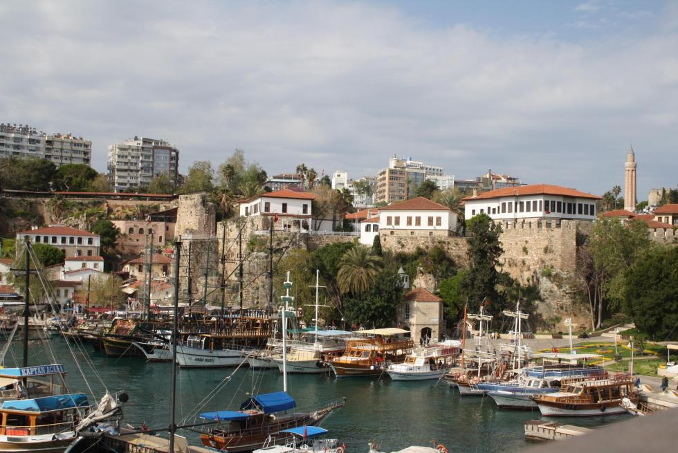 Antalya city and harbour