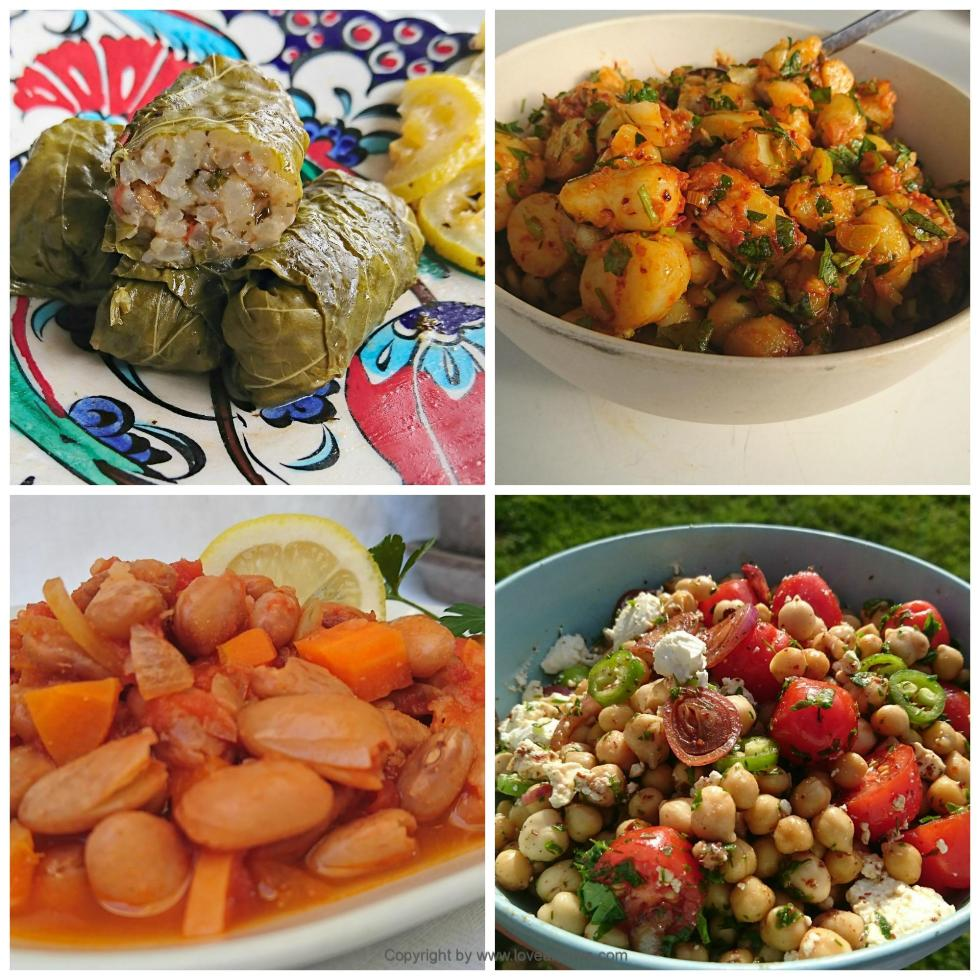 Turkish vegan dishes