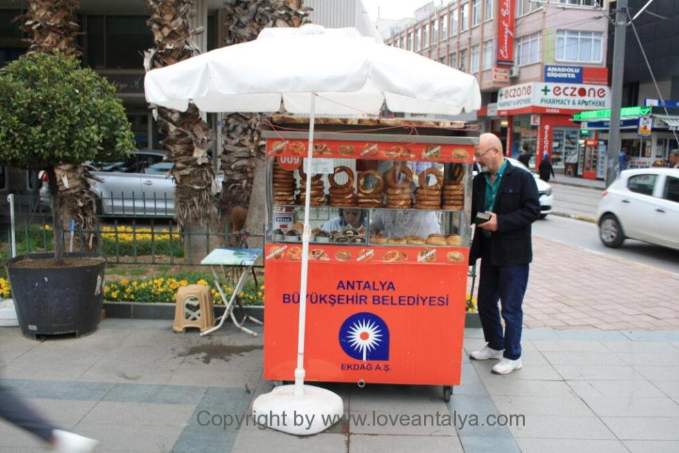 Turkish simit seller