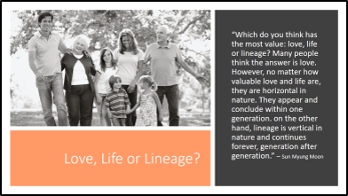 Slide #4 - Love, Life, Lineage