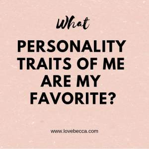 what are my favorite personality traits