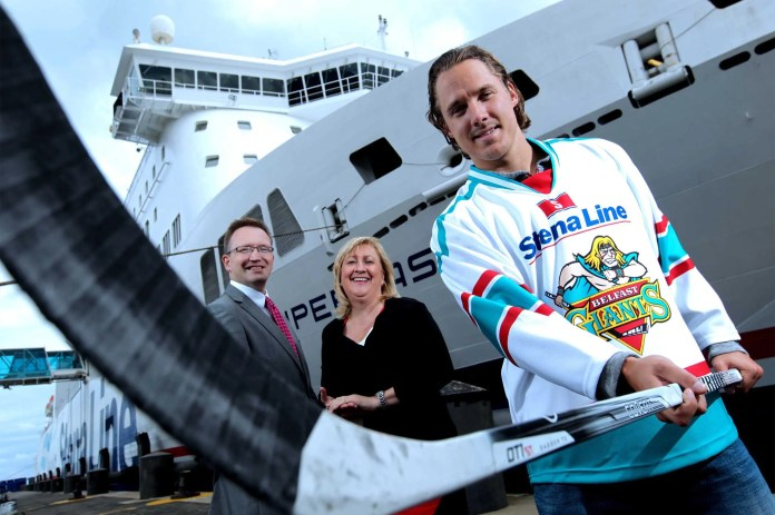 Giant Cody Brookwell are new signings, Stena Line's Neil Palmer and Anna Breen.