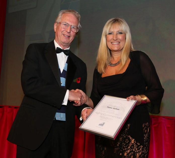Peter Lynch (BGTW) and Judith Owens (Titanic Belfast dep CEO)