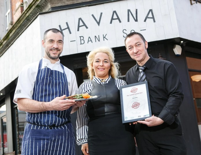 Havana chef Joe Brooks & managers Stephanie Watson & James Miskimmin