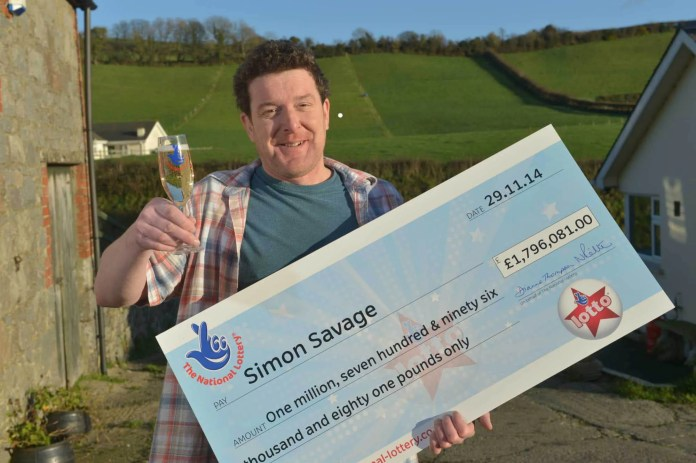Lottery winner Simon Savage#1