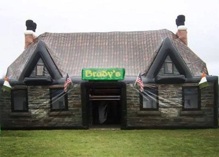 Inflatable pub Ireland