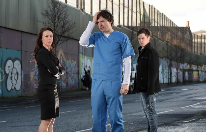 Richard Clements, Roisin Gallagher and Darren Franklin Stitched Up 2