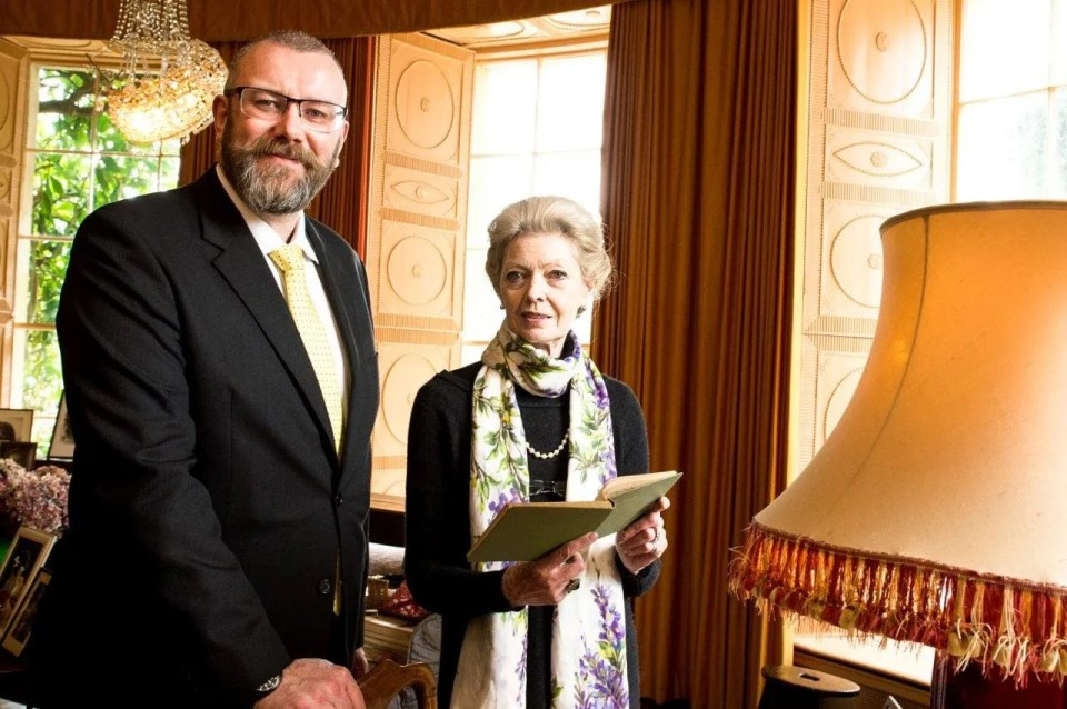 Jon Kerr, National Trust with Lady Rose Lauritzen at the newly restored Mount Stewart.