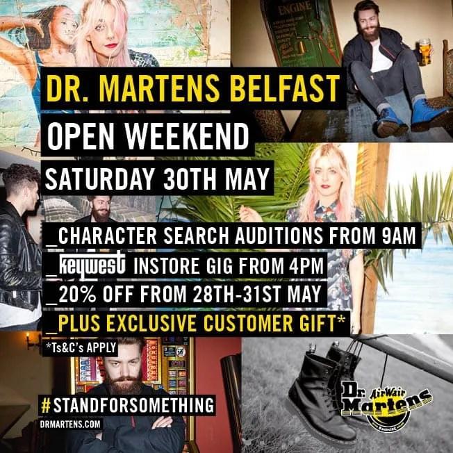 Dr. Martens SS15 Belfast Open Weekend