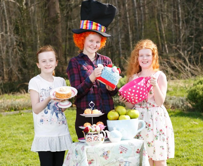 Kara Morgan, Lucy McGeary and Chloe O'Neill are ready for a Mad Hatter's...