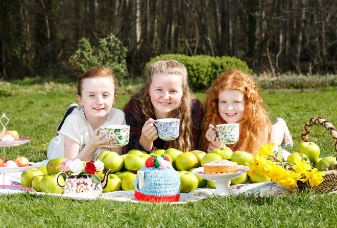 Kara Morgan, Lucy McGeary and Chloe O'Neill are ready for the fun at Arm...