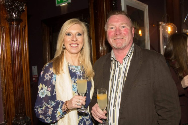 Jim Gracey & Paula Gracey, Belfast Telegraph /Sunday Life, pictured at the Shortcross Signature Serve event in Sixty6 Belfast.