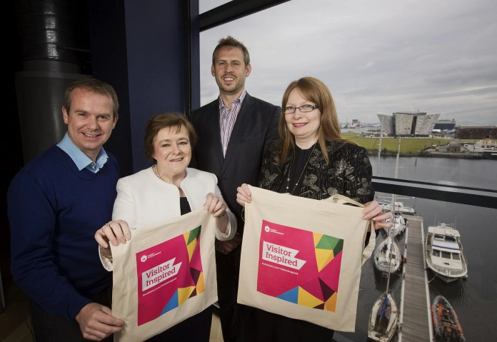 Pictured left-right are; Geoff Wilson, board member Tourism NI, Professor Marie McHugh, Dean, Ulster Business School, Brian Beattie, Marketing Director, Tennent's NI and Professor Una McMahon Beattie, Head of Hospitality and Tourism Management, University of Ulster.