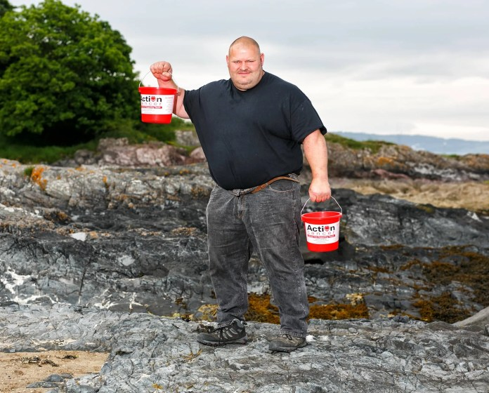 Former UK and Europe's Strongest Man Glenn Ross takes 'Giant Steps' to help launch the Action Cancer Giant's Walk. Taking place on Saturday 05 September 2015. The picturesque walk follows a stunning route along the Causeway coastal paths. The walk starts off from the award winning Giant's Causeway Visitors Centre making its way along the Causeway finishing at the Carrick-a-Rede Rope Bridge. The £12 online registration for The Giant's Walk is now open at www.actioncancer.org. For further info please contact Stacey on sgraham@actioncancer.org or call 028 9080 3349.