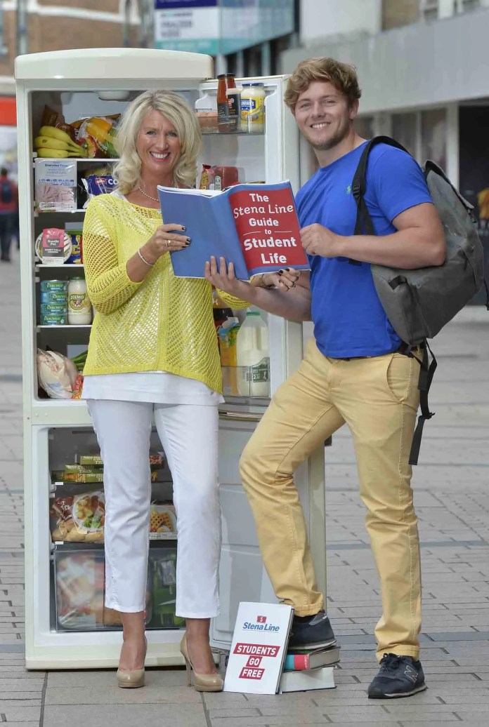 Hungry for the fridge full of food is student, James Stewart, but his Mum, Anya, already feels like a winner as she gets to fill her car full of students for free. For more information on Stena Line's students go free fare or for details of how you can win a fridge full of food, log onto www.stenaline.co.uk.