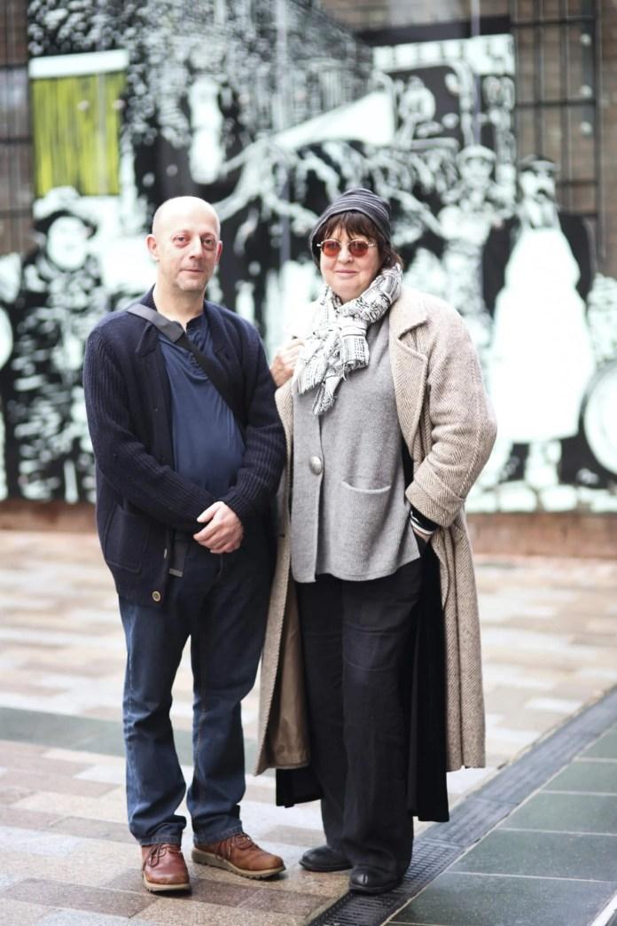 Artists Annemarie Mullan and Stephen Mackey
