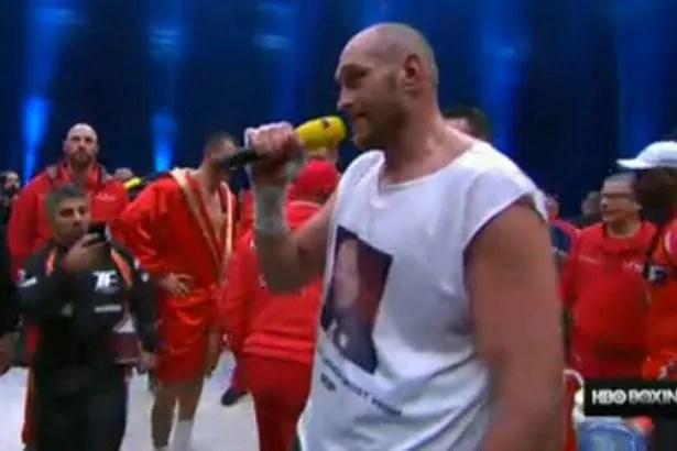 Tyson Fury Sings