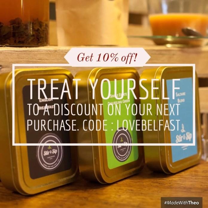 Stir & Sip Loose leaf Tea Love Belfast