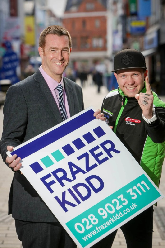 Brian Kidd, Partner at Frazer Kidd with local British Supersport Championship contender Andy Reid announcing their partnership for 2016.