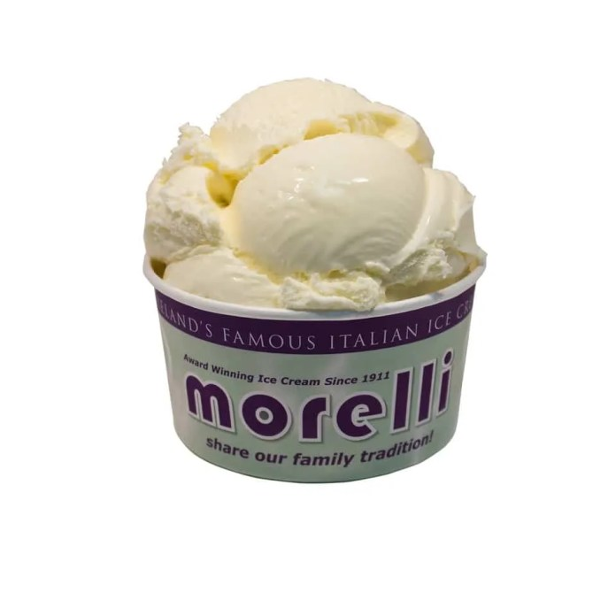 Morelli's vanilla ice cream