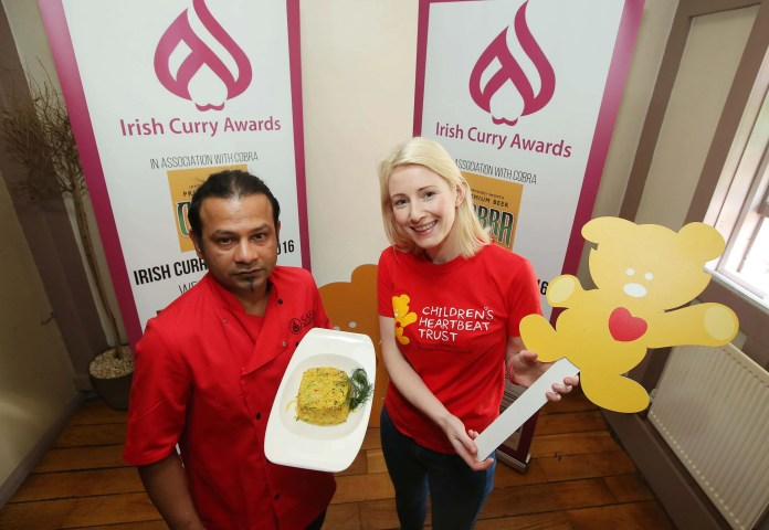 Ali Askir (SAFA) and Sarah Quinlan (Childrens Heartbeat Trust) at the launch of the inaugural Irish Curry Awards