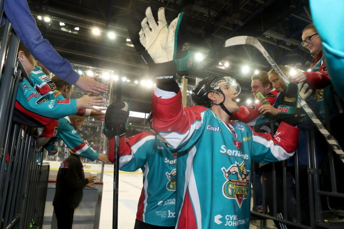 Press Eye - Belfast -  Northern Ireland - 17th September 2016 - Photo by William Cherry Belfast Giants' Michael Forney after Saturday nights Challenge Cup game at the SSE Arena, Belfast.
