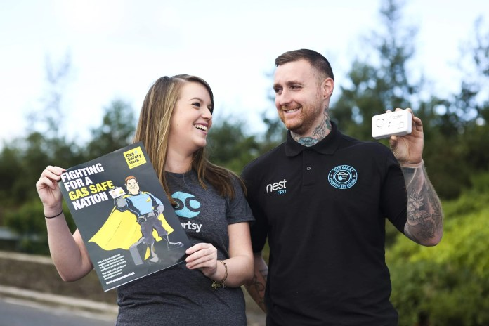 Sortsy has teamed up with Tesco Northern Ireland and Sortsy accredited plumbers City Gas NI, to host an number of awareness events and give away carbon monoxide monitors during Gas Safety Week 2016, which is taking place from 19th – 25th September. The aim of the campaign is to educate Northern Ireland consumers on the dangers of gas and the importance of looking after your gas appliances and installing a carbon monoxide monitor in the home to avoid injury or death by this 'silent killer'.  Claire Carson, Sortsy, and Ryan Burnison, City Gas NI encourage Northern Ireland to get gas aware this Gas Safe Week (19th – 25th September) as they prepare for to visit Tesco Extras stores inclusing Knocknaghoney (Thursday 22nd September 1pm - 5pm), Newtownabbey (Friday 23rd September from 1pm – 4pm) and Antrim (Saturday 24th September 10am – 2pm) where customers can benefit from tips and advice on being gas safe as well as the opportunity to win one of 10 Tesco carbon monoxide monitors for their home. For further information visit www.sortsy.co.uk/begassafe. Image by John Murphy, Aurora PA.